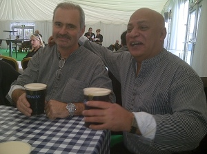 Matching shirts and Guiness