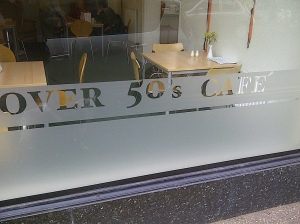 over 50's cafe