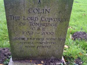 final resting place of one of England's most famous cricketers. Colin Cowdray