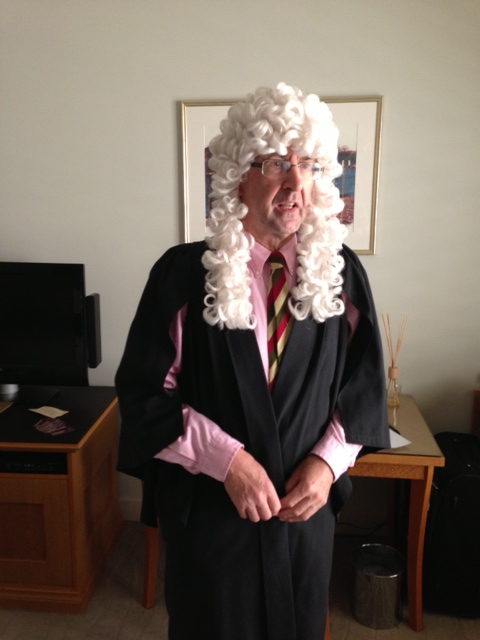 Judge wig and gown