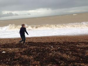Clymping beach in winter, Clymping beach in winter