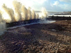 Clymping beach wave