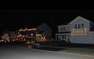 gaudy xmas lights