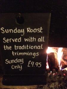 sunday roast sign