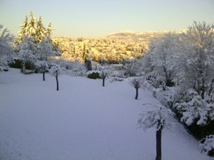 snow in south of France