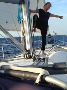 pole dancing on yacht