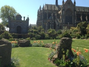 the gardens at Arundel Castle