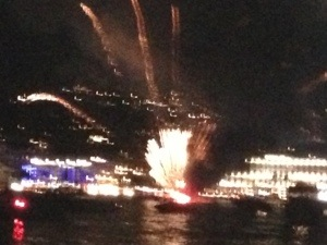 Cannes fireworks fire
