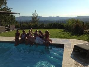 sunny poolside