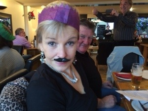 That Nice Lady Decorator showing some solidarity with my moustache