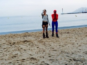 spiderman and lara