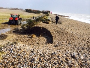 breached beach defences