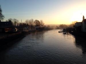 river arun sunset