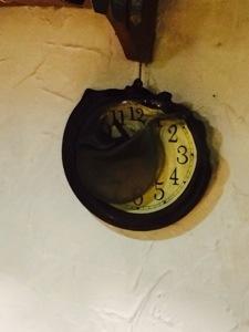 fire damaged clock