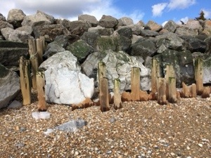 beach groins eroded