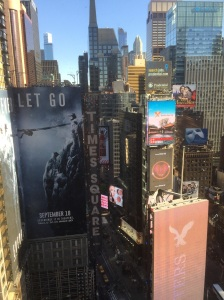 From the 25th floor of the Marriott Marquis in Times Square, New York